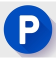 parking lot sign icon flat style vector image vector image