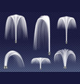 realistic fountains geysers jets vector image vector image
