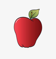 Red apple isolated on a white vector image vector image