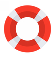 Red Lifebuoy Icon vector image