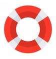 Red Lifebuoy Icon vector image vector image