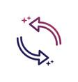 reload arrows refresh social media gradient style vector image