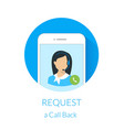 Request a call back vector image