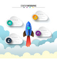 rocket infographic startup visualization vector image