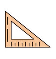 school education triangle ruler angle supply line vector image