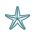 sea starfish single icon separate isolated vector image vector image
