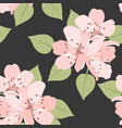 seamless floral background with cherry flowers vector image vector image