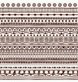 seamless tribal pattern in the style of a boho vector image