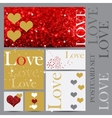 set happy valentines day cards vector image