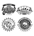 set of casino elements vector image