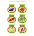 set of labels with vegetables vector image vector image