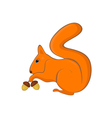 squirrel with nuts in its paws vector image