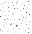Stars confetti nursery seamless pattern