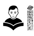 Student Flat Icon With Bonus vector image vector image