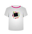 T Shirt Template- Polaroid vector image vector image