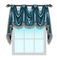 the ornate curtain in the interior vector image vector image