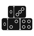 Three dice cubes icon simple style vector image vector image
