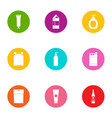 tory icons set flat style vector image vector image