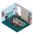 typical working day in the office vector image vector image