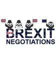 uk negotiations vector image vector image