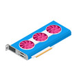 video graphics cards for cryptocurrency mining 3d vector image vector image