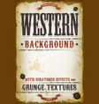 vintage western background vector image