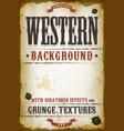 vintage western background vector image vector image