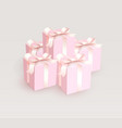 wedding gift boxes with tender satin ribbon magic vector image
