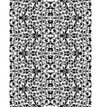White lace pattern on black abstract seamless vector image vector image