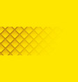 yellow geometric square background in paper art vector image