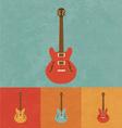 Retro Electric Guitar vector image