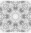 black and white mandala pattern monochrome vector image