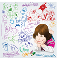 childrens drawings vector image