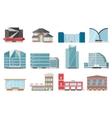 City Buildings Icon Set vector image