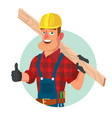 classic worker or carpenter civil vector image