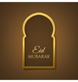 Eid Mubarak background Greeting card template vector image