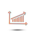 chart line icon report graph sign vector image