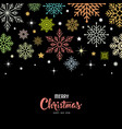 colorful snowflake for merry christmas vector image