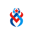 abstract star victory logo vector image