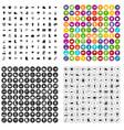 100 garden stuff icons set variant vector image vector image