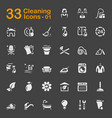 33 cleaning icons 01 vector image vector image
