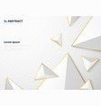 abstract gradient white triangle polygon pattern vector image