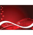 abstract valentines vector image vector image