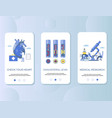 atherosclerosis mobile app onboarding screens vector image vector image