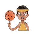 basketball player cartoon icon image vector image vector image