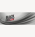 black friday gray sale banner with wavy shape vector image vector image