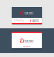 business cards template with hotel red color vector image vector image