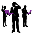 business people computers vector image