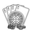 casino single icon in outline stylecasino vector image vector image