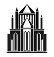 cathedral icon simple style vector image vector image